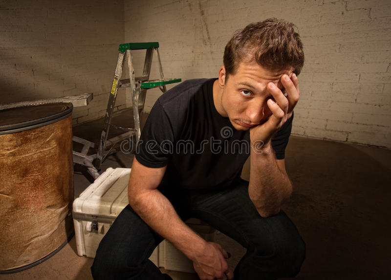 Stressed Out Man royalty free stock photography