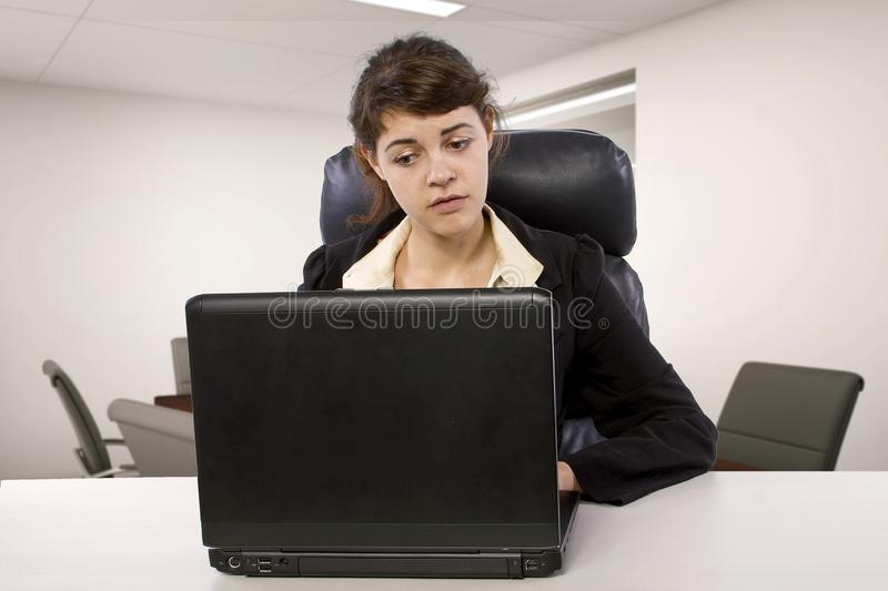 Stressed Out Unpaid Office Intern stock photography