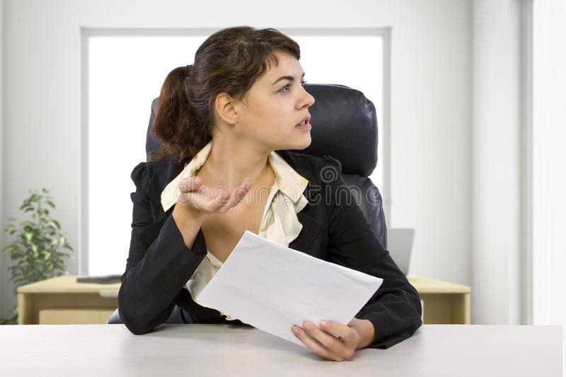 Stressed Out Unpaid Office Intern royalty free stock photo