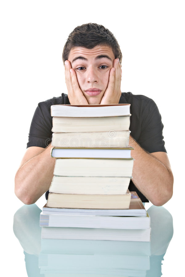Download Stressed Student stock image. Image of many, learning - 6014867