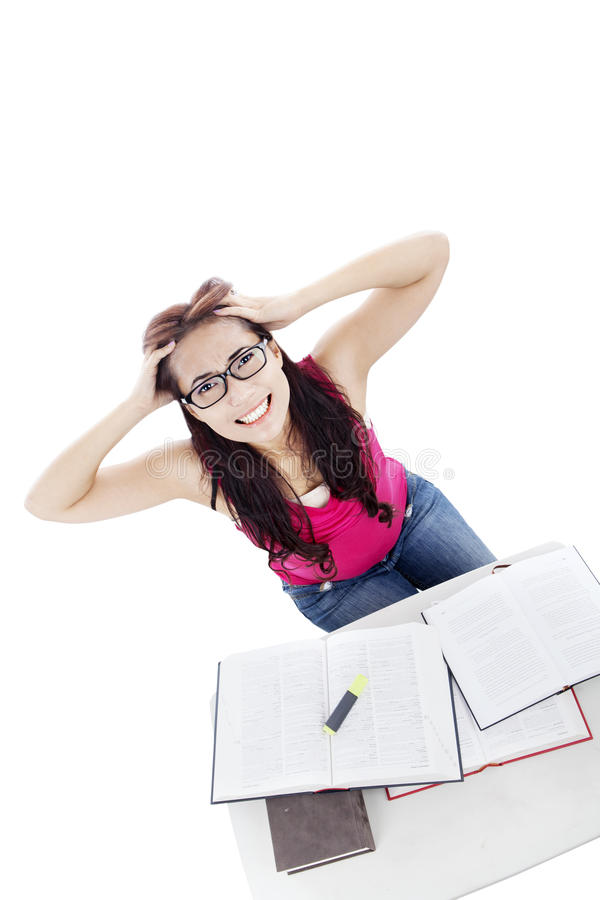 Download Stressed Student Caused Exams Stock Photography - Image: 25805692