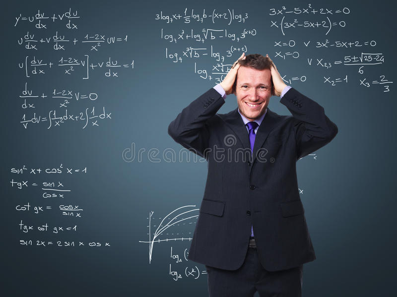 Stressed Teacher Royalty Free Stock Image