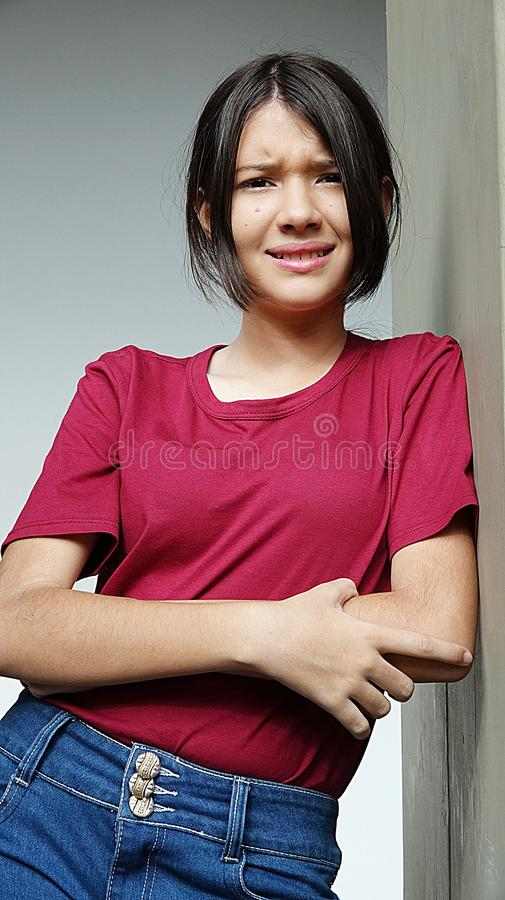 Stressed Teenager Girl stock photography