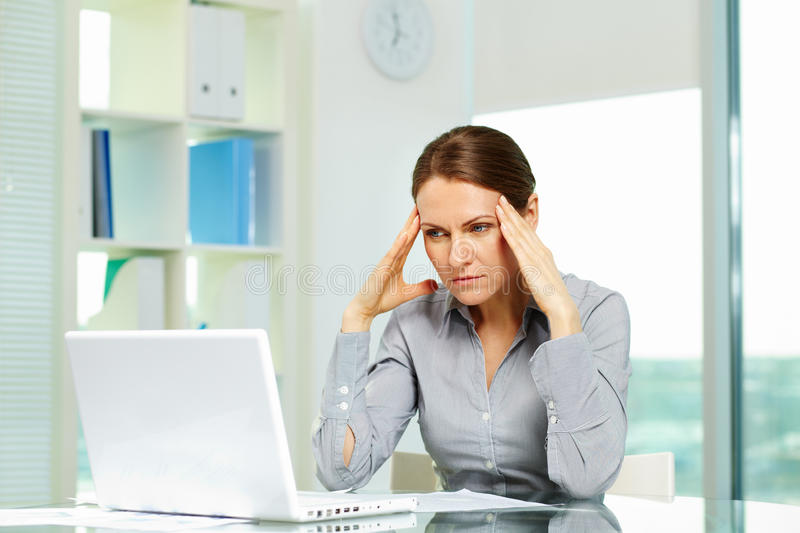 Stressed and tired stock images