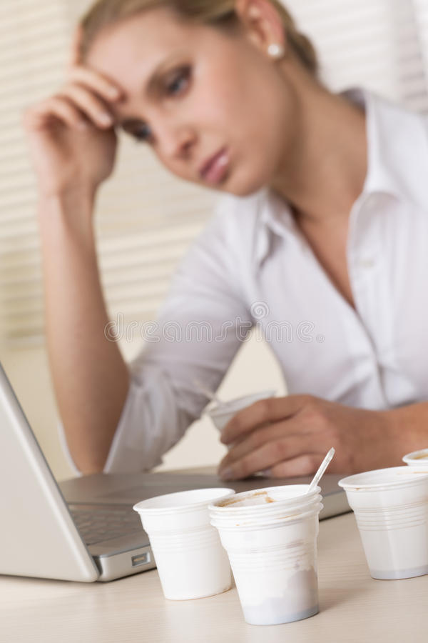 Stressed/Tired Businesswoman Royalty Free Stock Image