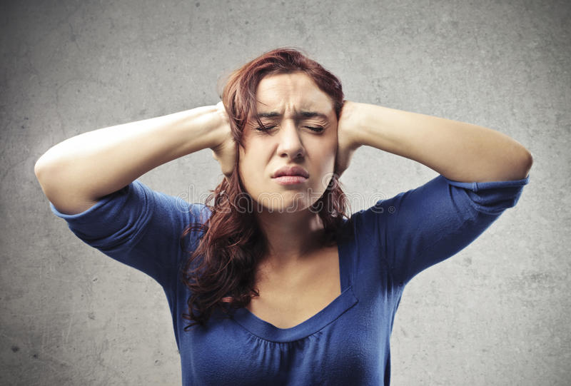 Download Stressed Woman stock image. Image of woman, angry, headache - 27696465