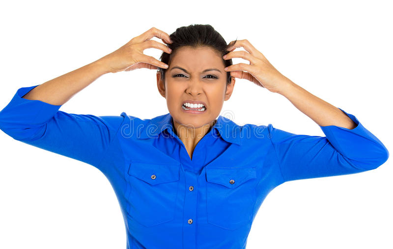 Stressed woman stock image