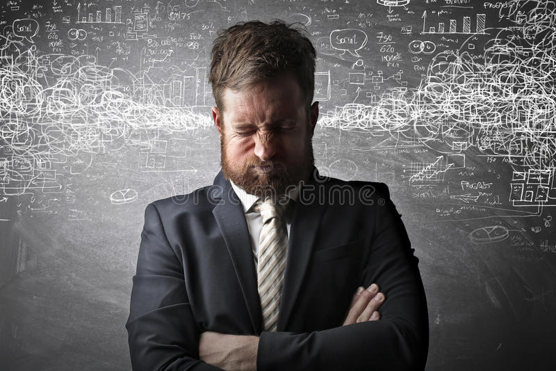 Stressed worker royalty free stock photos