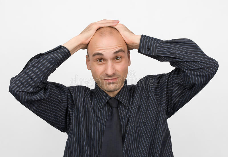 Download Stressed Young Business Man Stock Image - Image: 10081891