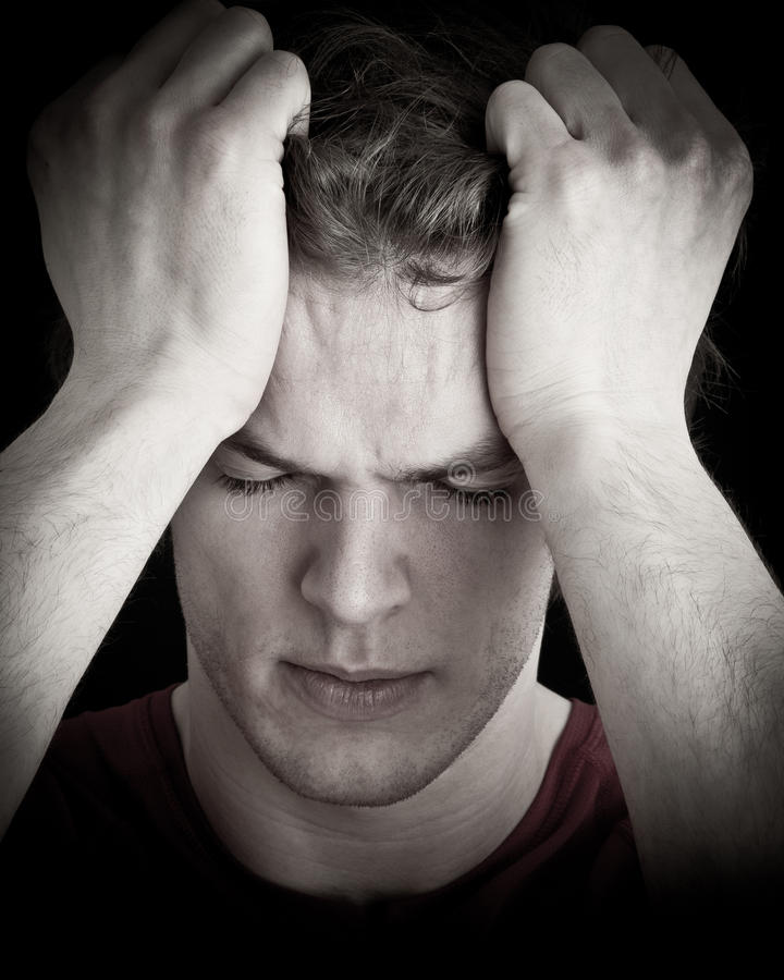 Download Stressed young man stock photo. Image of stressed, handsome - 22791186