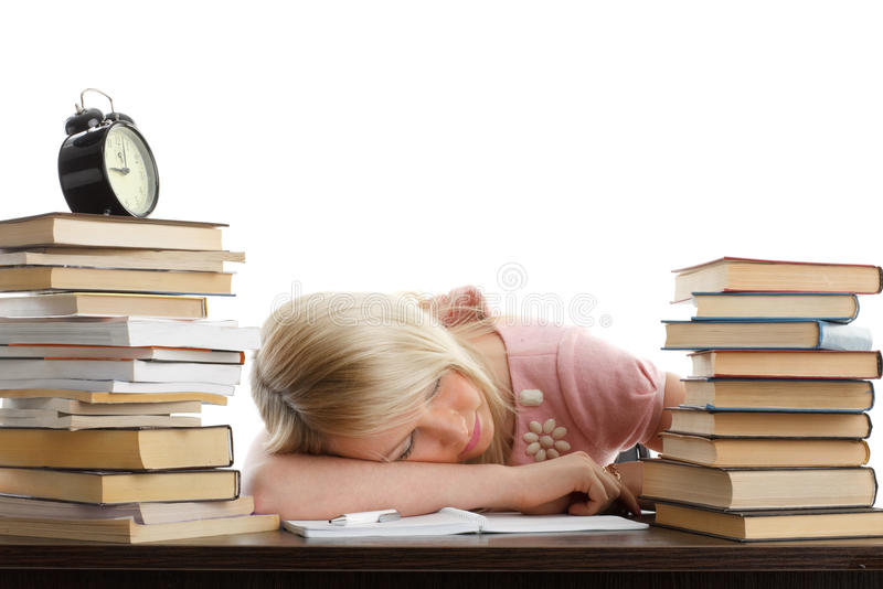 Download Stressed young woman stock image. Image of pile, doing - 13157867