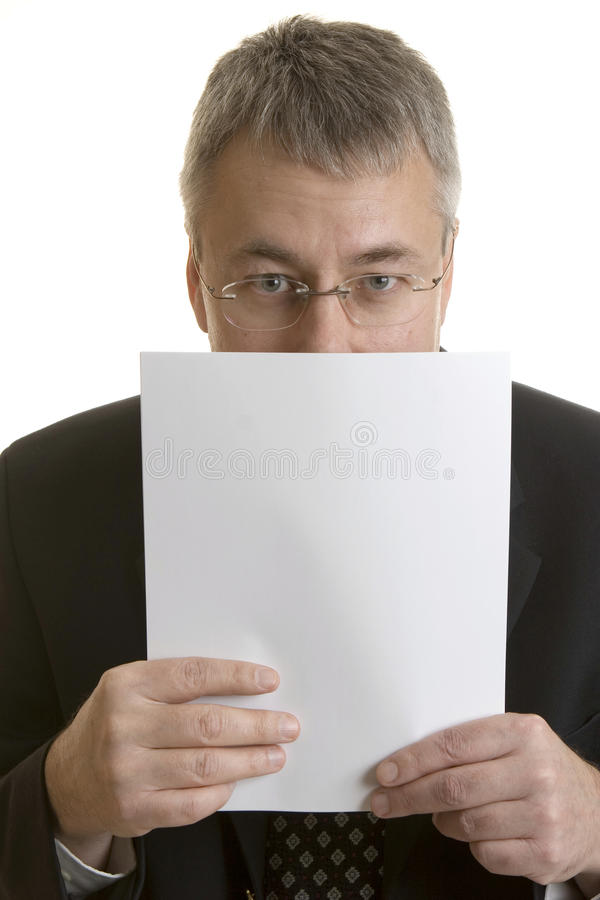 Stressful Job Interview royalty free stock photo