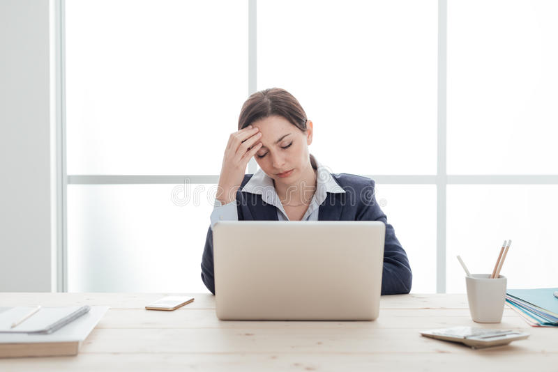 Stressful job royalty free stock image