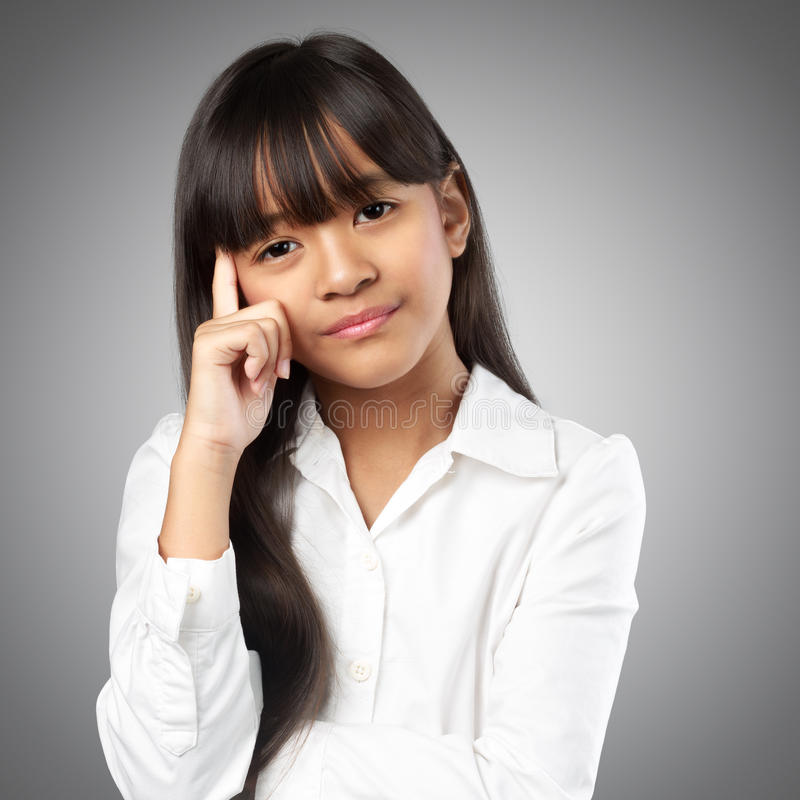 Stressful little girl royalty free stock images