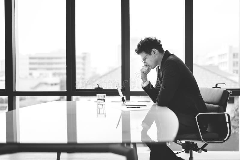 Stressful Stress Serious Working Entrepreneur Concept stock photo