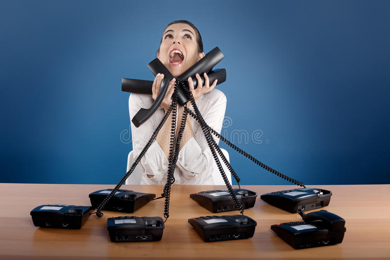 Stressful work royalty free stock images