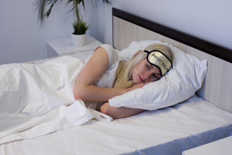 Stressful young woman thinking about her marriage problems royalty free stock image