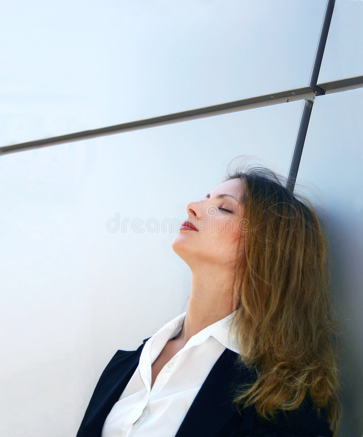 A stressfull day stock image