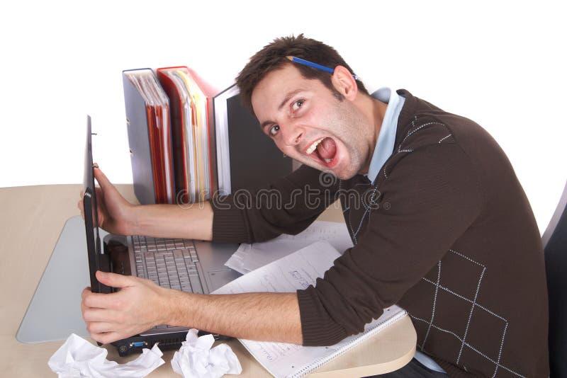Stressfull Job lizenzfreies stockbild