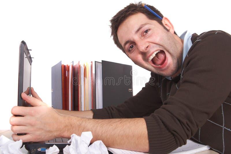 Stressvolle Arbeit stockfotos