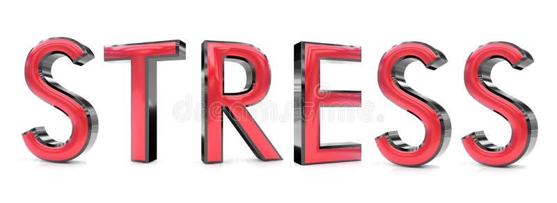 Stresu 3d słowo ilustracja wektor