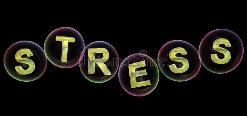 Stresu słowo w bąblu ilustracji