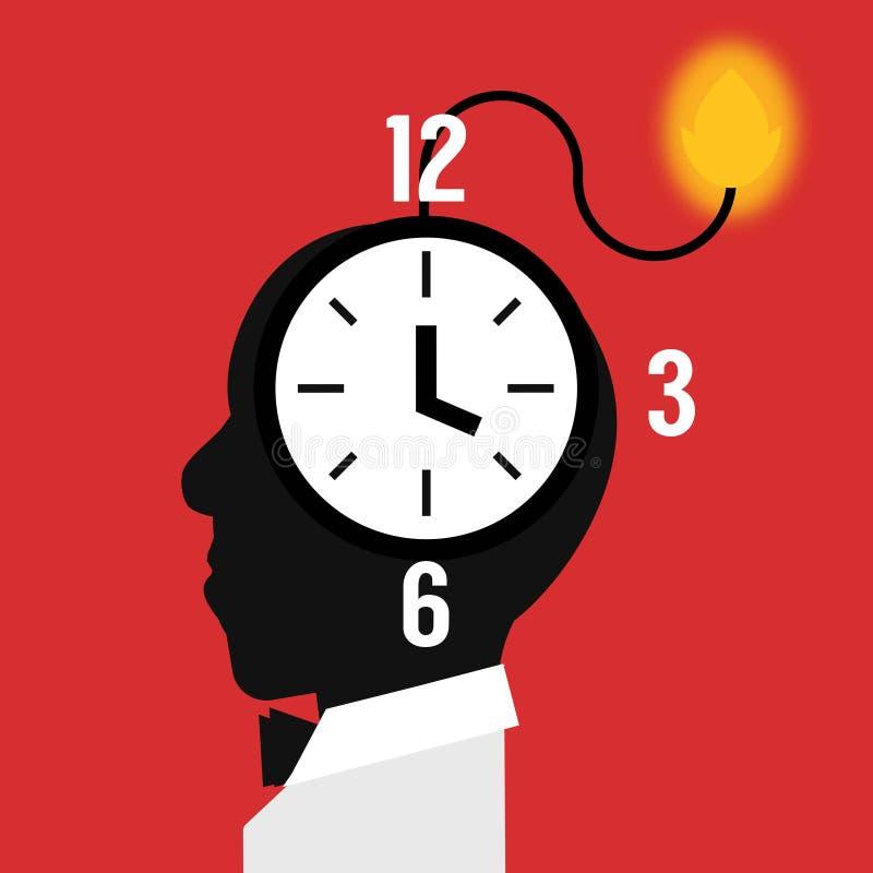 Stresu występu zegar ilustracji