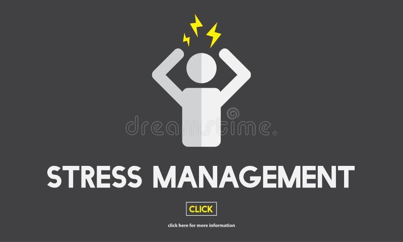 Stresu zarządzania napięcia niepokoju napięcia rehabilitaci pojęcie ilustracji
