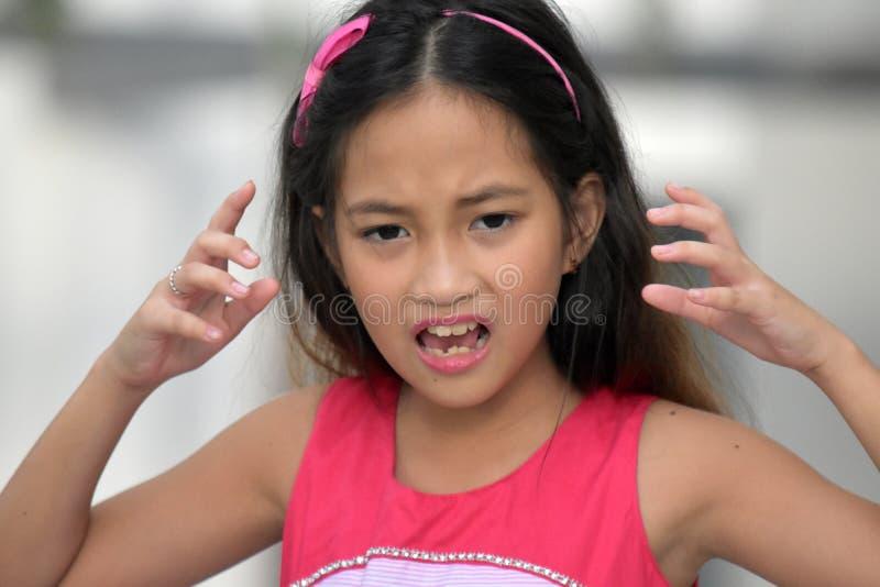 Stresująca nastolatek dziewczyna zdjęcia stock