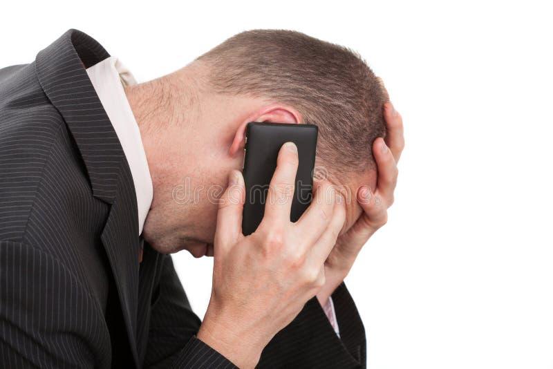 Stresująca biznesowa rozmowa zdjęcie stock
