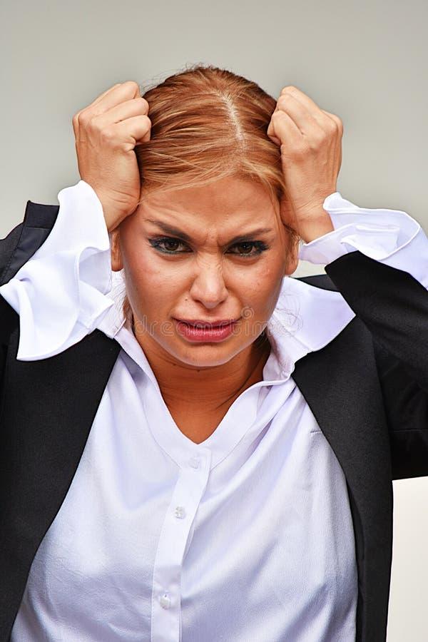 Stresująca Inteligentna Biznesowa kobieta fotografia stock