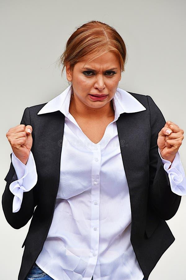 Stresująca Mądrze Biznesowa kobieta Jest ubranym kostium zdjęcie stock