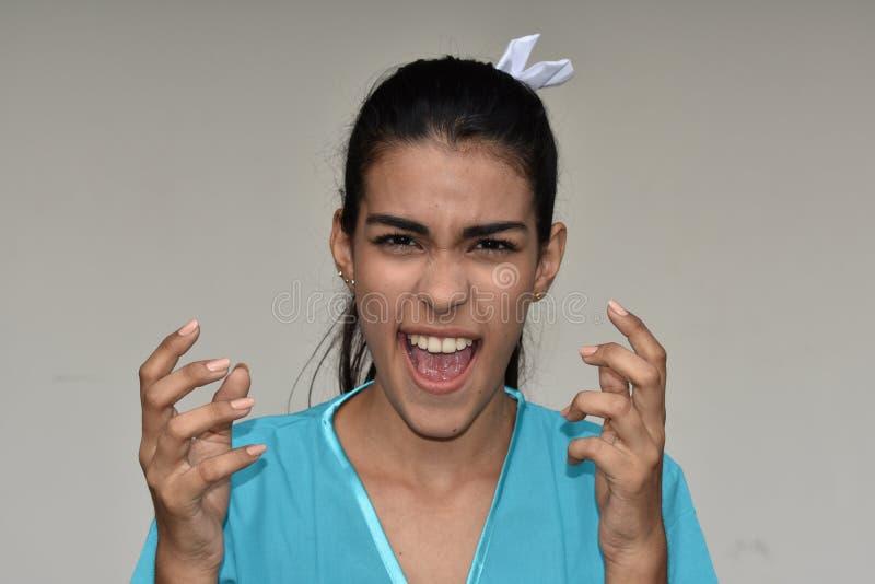 Stresująca Młoda Żeńska pielęgniarka zdjęcie stock