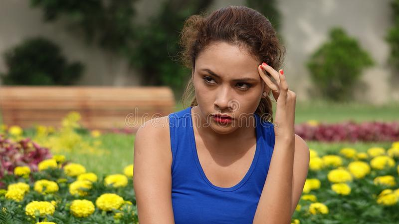 Stresująca młoda osoba fotografia stock