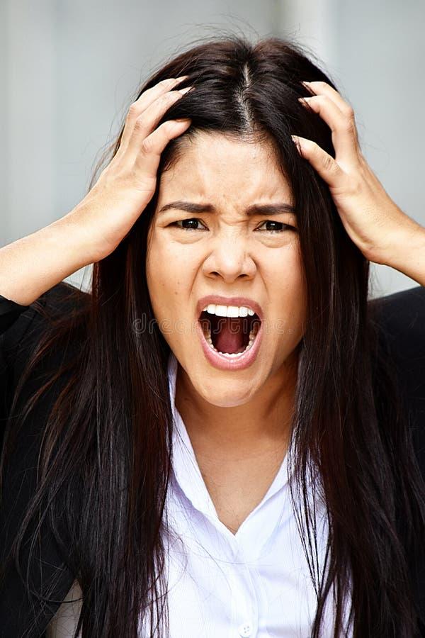 Stresująca Różnorodna Biznesowa kobieta zdjęcie stock