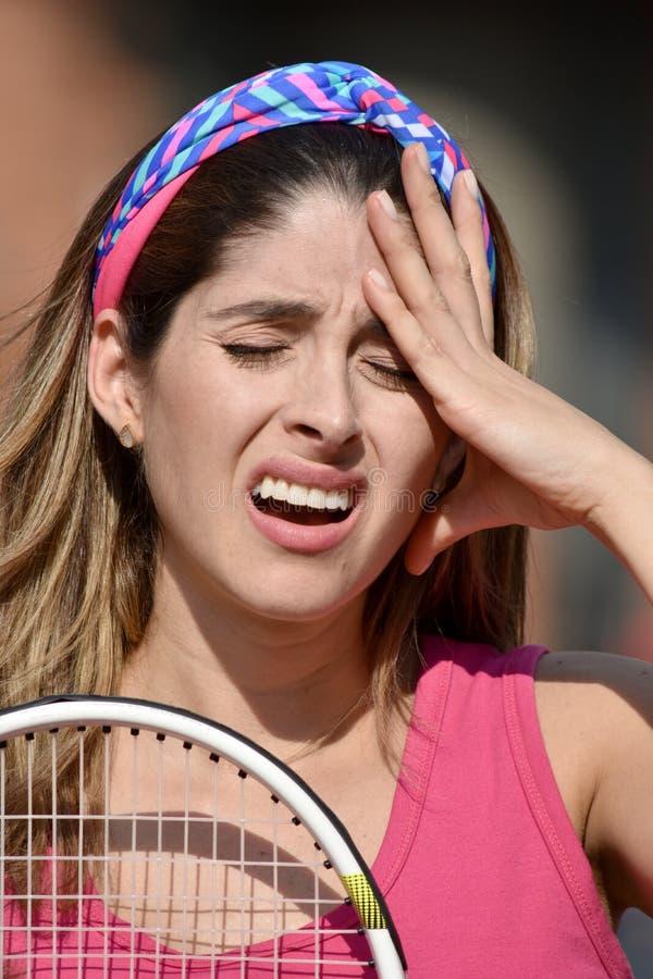 Stresującej atlety Kolumbijska osoba Z Tenisowym kantem zdjęcia royalty free