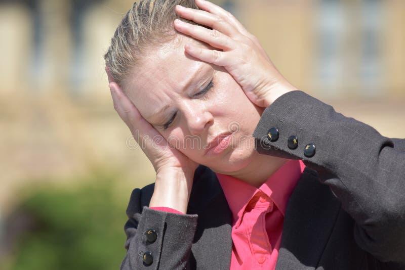 Stresującej Dorosłej blondynki Biznesowa kobieta zdjęcie royalty free
