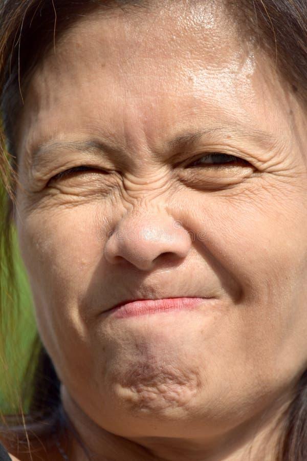 Stresujący Żeński senior zdjęcia stock