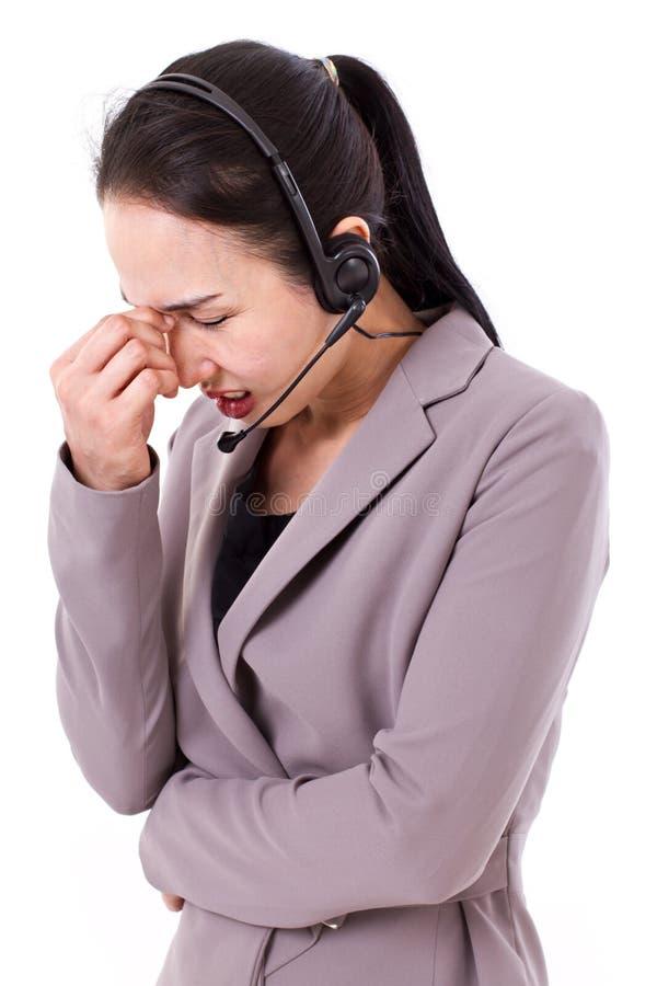 Stresujący obsługa klienta personel obraz stock