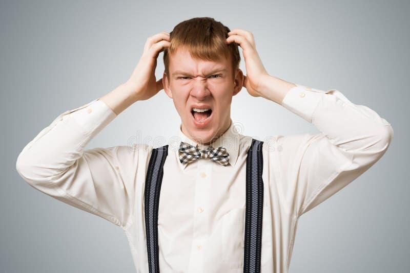 Stresuj?cy modni? krzyczy z panik? zdjęcie stock