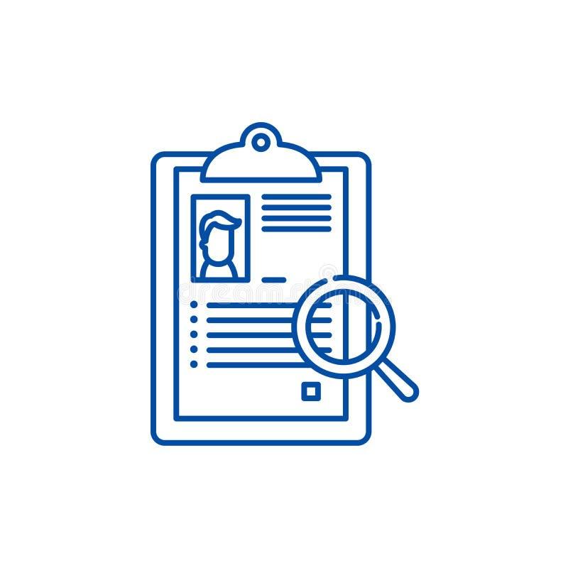 Streszczenie ikony kreskowy pojęcie Zbiorczy płaski wektorowy symbol, znak, kontur ilustracja ilustracja wektor
