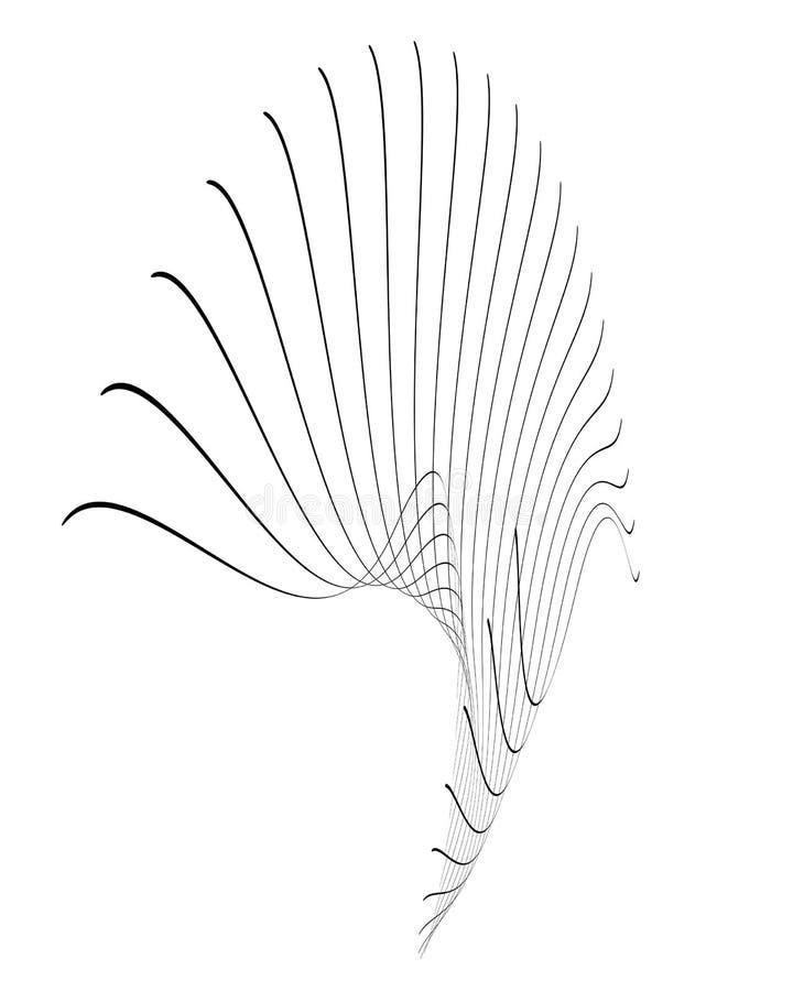 streszczenie linii royalty ilustracja