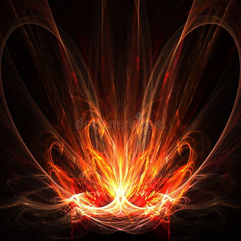 streszczenie serce płonie royalty ilustracja