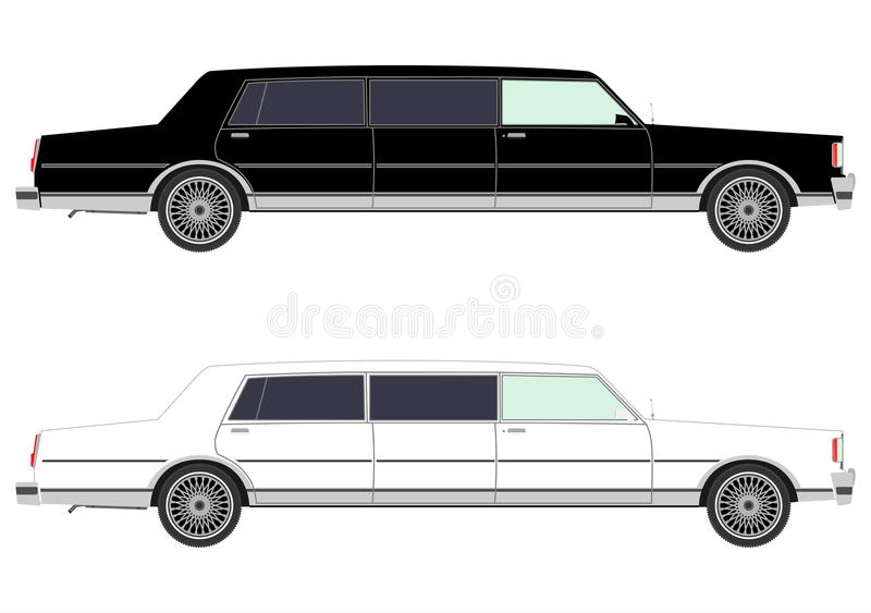 Download Stretch limo in two colors stock vector. Illustration of nostalgia - 32424638