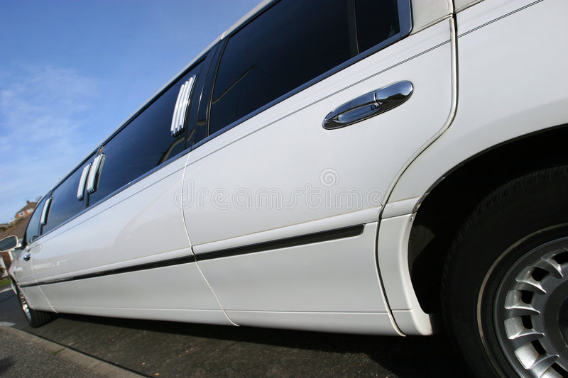 Stretch Limousine Wedding Car royalty free stock photography