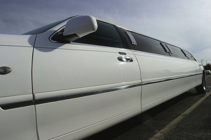 Stretch Limousine Wedding Car Royalty Free Stock Images