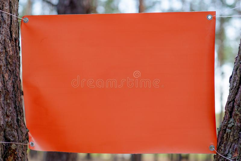Stretched empty vinyl canvas outdoor royalty free stock images