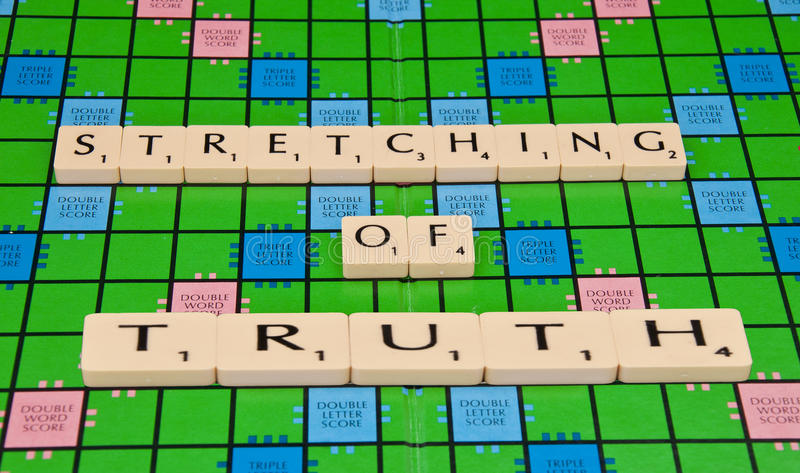 Stretched Truth Royalty Free Stock Photography
