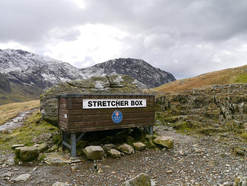 Download Stretcher Box For Mountain Rescue, Lake District Stock Photo - Image: 41247737
