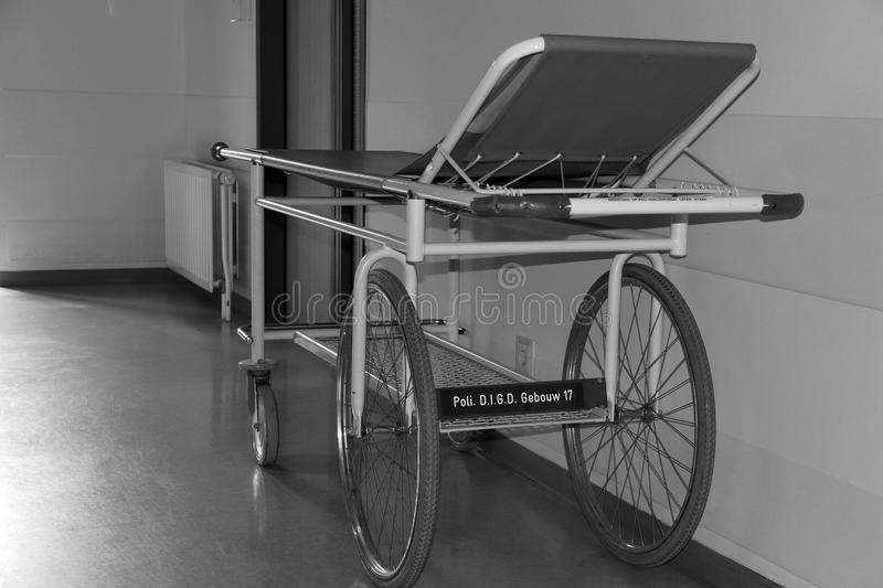 A stretcher in a hospital royalty free stock photography